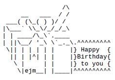 Happy Birthday ASCII Text Art