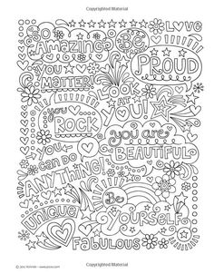Notebook Doodles Go Girl! Beginner-Friendly Empowering Art Activities for Tweens, on High-Quality Extra-Thick Perforated Paper School Social Work, Art School, Coloring Book Pages, Coloring Sheets, Notebook Doodles, Color Activities, Lettering, Printable Coloring, Mandala Art