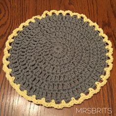 MrsBrits: Easy Round Crochet Dishcloth Pattern with Bernat Handicrafter