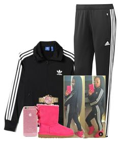 """Go follow IG @amourjayda"" by melaninprincess-16 ❤ liked on Polyvore featuring adidas, UGG Australia and Michael Kors"