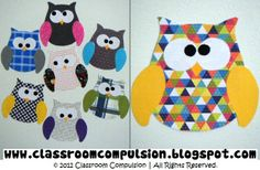 Classroom Compulsion: Owls, Owls Everywhere! owl template