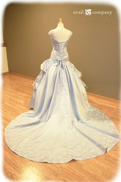 Cinderella Pale Blue Wedding Dress Custom Made to Order by AvailCo