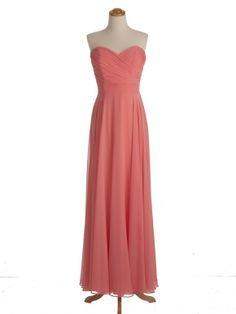 affordable long orange strapless sleeveless prom dress   Cheap sweet heart Sale