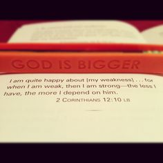 God is bigger... LOVE this!!