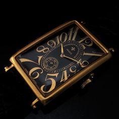 Mens ART DeCo 1907 VACHERON & CONSTANTIN Vintage RECTANGULAR Watch  ART DeCo GOLDEN RECTANGULAR LARGER SIZE TANKe MODEL