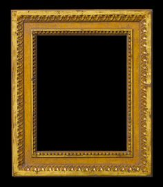 water gilded Louis XVI style frame with lambs tongue ornament