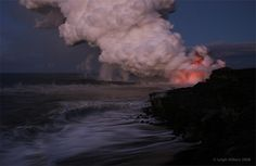 Hawaii's Active Lava Flow Before the Sun Comes Up | Flickr - Photo Sharing!