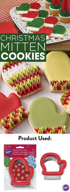 Baking cookies for Christmas? Bake cute batches of Christmas Mitten Cookies using the Wilton Comfort Grip Mitten Cookie Cutter. The cushion grip gives you comfortable control even when cutting thick desserts.