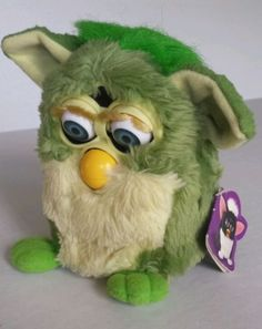 Vintage 1st Generation Green Furby 1998 Tags Tiger Electronics Instruction Books in Toys & Hobbies | eBay