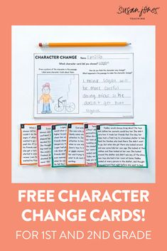 Working on characters during your reading block?! These ((free)) passages are great for students to read and decide how and why a character might change based on what has happened to them in the story!  #freebie #Firstgradereading