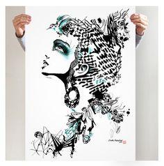 ENJOY YOUR POWER - Linda Vagnelind #nordicdesigncollective #lindavagnelind #enjoyyourpower #poster #swedishdesigner