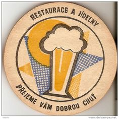 Vintage Czech Beer Coaster. Czech beer in New Zealand