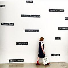 . ちょっと前のだけど載せさせてください . 豊田市美術館にて  . この日は「デトロイト美術館展」を鑑賞しました . この美術館、どこもフォトジェニックでステキだった また行きたいなあ  . #豊田市美術館 #mhl #yaeca #teva #falke