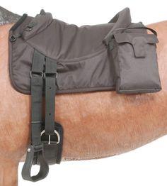Polypropylene Bareback Pad with Accessory Bags