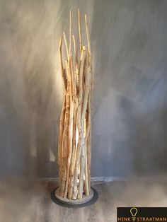 Houten vloerlamp no shade | Houten Lampen