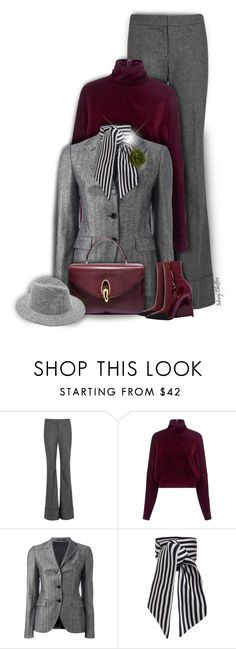 """Business Matters"" by mcheffer ❤ liked on Polyvore featuring STELLA McCARTNEY, McQ by Alexander McQueen, Tagliatore, Zimmermann, hat, booties, scarf and businessattire"