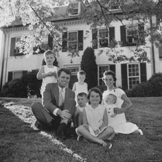 Bobby Kennedy with his family