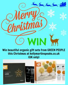 Enter this competition to win 2 Organic Body Care Sets from Green People  #win #competition #organic #beauty #Christmas