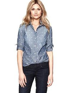 1969 polka dot boyfriend shirt | Gap