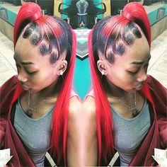 ❤️❣half weave / ponytail