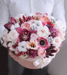 Flower Box Gift, Flower Boxes, Blooming Flowers, Fresh Flowers, Amazing Flowers, Beautiful Flowers, Luxury Flowers, Rose Bouquet, Paper Flowers