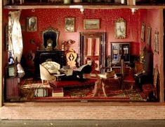 The Hammond Dolls House, Wallington, Northumberland - the library