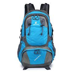 LIIREN Outdoor Backpack Climbing Backpack Sport Bag Hiking Backpack Blue * Click on the image for additional details. #BackpacksandBags