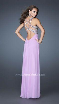 2014 Gorgeous Lavender La Femme Prom Dress 18841
