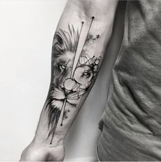 Our Website is the greatest collection of tattoos designs and artists. Find Inspirations for your next Lion Tattoo. Search for more Tattoos. Lion Forearm Tattoos, Forarm Tattoos, Leo Tattoos, Bild Tattoos, Animal Tattoos, Body Art Tattoos, Tattos, Meaning Tattoos, Lion Tattoo Design
