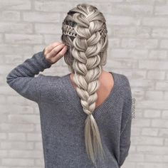 French Braid with 4-strand accents
