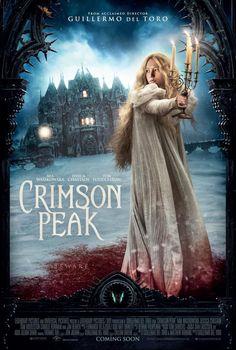 Crimson Peak (October 2015): A raíz de una tragedia familiar, una aspirante a escritora se debate entre el amor por su amigo de la infancia y la tentación de un forastero misterioso. Tratando de escapar de los fantasmas de su pasado, ella se deja llevar a una casa que respira, sangra - y recuerda.