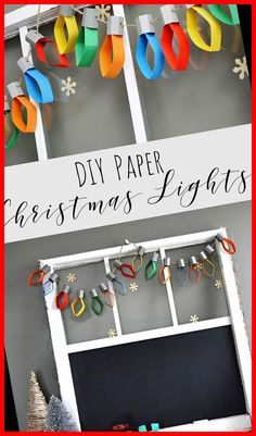 Colourful DIY paper Christmas lights. christmas decorations diy crafts Christmas Lights Paper Garland 11+ | christmas decorations diy crafts | 2020 Christmas Decorations Diy For Kids, Diy Christmas Garland, Christmas Crafts For Kids To Make, Christmas Paper Crafts, Handmade Christmas Gifts, Kids Christmas, Christmas Cards, Holiday Gifts, Preschool Christmas