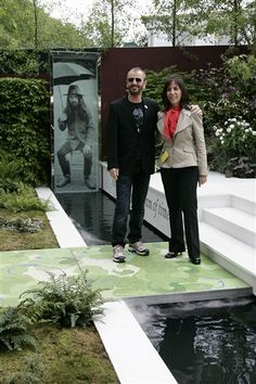 Ringo & Olivia at RHS Chelsea Flower Show Garden For George tribute From Life To Life
