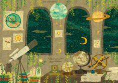 "semidarksorahana: "" Astronomical Observation. 天体観測。 By Megumi…"