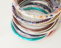 (studs and pearls): diy: Vinyl Tube Bracelet
