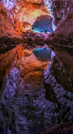 Cueva de los Verdes auf Lanzarote, Kanarische Inseln