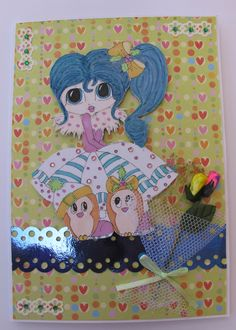 Digi Image coloured with Promarkers - Card and embellishments by Creata