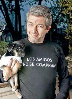 Ricardo darin ... te amo con todo y perrito!