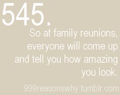 So at family reunions everyone will come up and tell you how amazing you look Reasons to lose weight, thinspiration, thinspooo, motivation. Fitness Motivation, Gewichtsverlust Motivation, Weight Loss Motivation, Motivation Inspiration, Fitness Inspiration, Skinny Girl Motivation, Fitness Workouts, Fitness Goals, Losing Weight Tips
