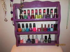 My DIY nail polish spice rack tutorial!