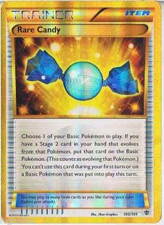 Pokemon Card Plasma Blast Secret Rare Holo Rare Candy 105/101 FREE COMB S