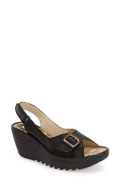 Fly London 'Yaga' Platform Wedge Sandal (Women) Fly London Shoes, Platform Wedge Sandals, Slingback Sandal, Nice Things, Summer 2016, Open Toe, Vintage Inspired, Nordstrom, Wedges
