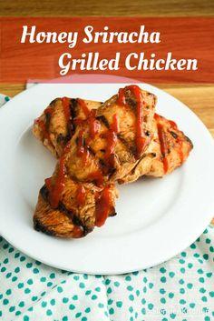 Grilled Honey Sriracha Chicken - Slender Kitchen