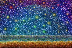 [adjective] arranged in a radiating pattern like that of a star. like the form of a conventionalised figure of a star; Etymology: Latin stellātus - starry, equivalent to stell(a) - star. Star Painting, Light Painting, Happy Solstice, Star Magic, Pointillism, Star Art, World Of Color, Star Shape, Stars And Moon