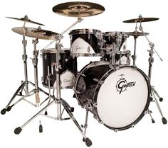 I WANT!!!!  Gretsch Drums Renown '57 5-Piece   Limited Edition 5-piece 2 Rack Toms, 1 Floor Tom, 1 Kick Drum, One Snare Drum, and Throne - Motor City Black