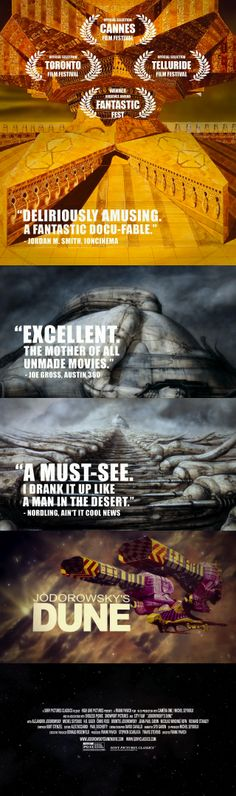 Trailer typography/title style - Jodorowsky's Dune (2013)