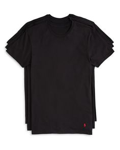 Polo Ralph Lauren Men's 3-Pack Cotton Crew Tees Black $34 FREE SHIPPING OR PICK UP
