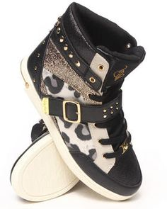Love this Madison Leopard Trim Studded Sneaker by Baby Phat on DrJays. Take a look and get 20% off your next order!