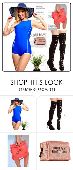 """""""Royal blue sleeveless padded chest one piece swimsuit"""" by lollicouture ❤ liked on Polyvore featuring Pinch Provisions, casual, womenfashion, onepieceswimsuit and lollicouture"""