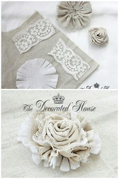 .shabby chic fabric flower